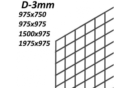 Сетка ячейка 75х75мм (D3мм)