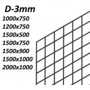 Сетка ячейка 50х50мм  (D3мм)