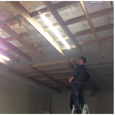 ТЦ Глобус установка потолка