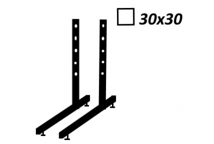 Ножки Кв 25х25 мм комплект 2 шт