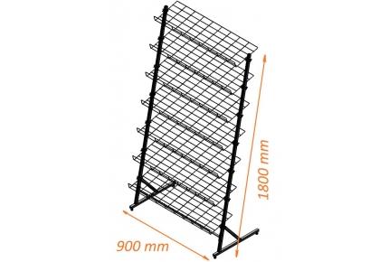 Стойка 7 полок  ширина 900мм ячейка 100х50мм