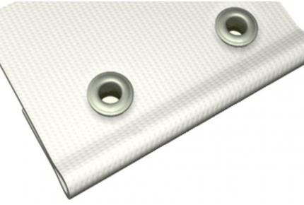 Баннер литой Frontlit 460 г/м.кв. с подворотом края и люверсами, сольвентная печать, 360 dpi